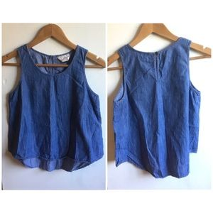 Universal Thread Denim Sleeveless Tank Top Sz XS